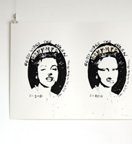 GOOD VIBES THE QUEEN -Mona Lisa & Marilyn-