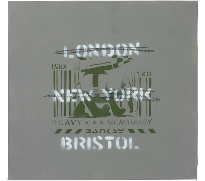 Heavy Weaponry - London, New York, Bristol Canvas