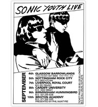 SONIC YOUTH / UK TOUR 1990 POSTER