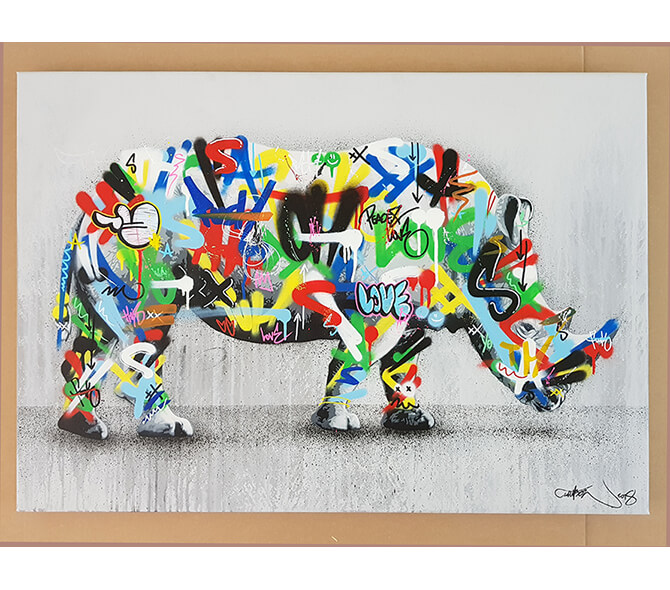 Rhino - Original Canvas