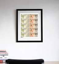 Di Faced Tenners - Uncut sheet