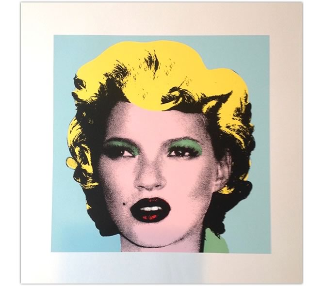 BANKSY Kate Moss Original Color WCP Reproduction