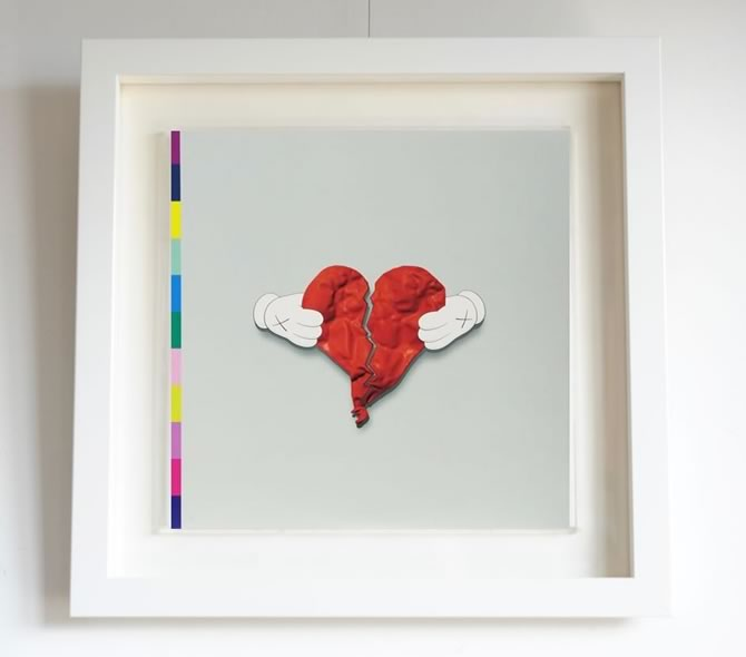 Kanye West 「808s & HEARTBREAK」 LP(額装付き)