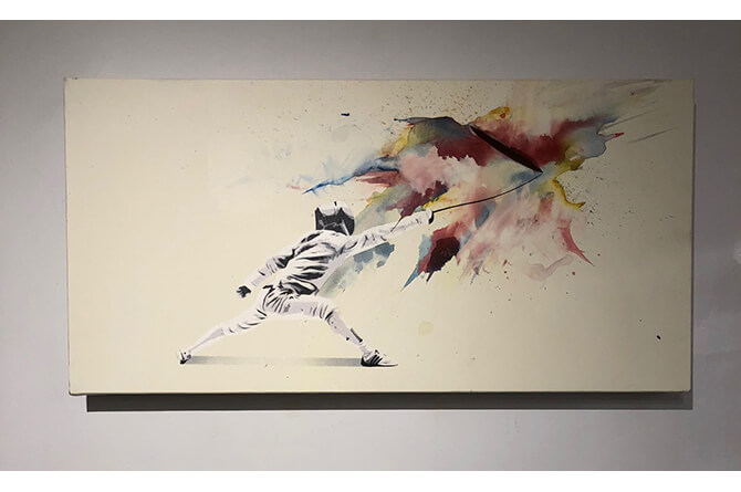 Fencer 1/1 Color Blast Canvas