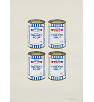 Four Soup Cans(Grey)サイン入り